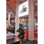 Kubota Messetstand - LED Frameless Leuchtrahmen Premium 2x2m doppelseitig mit Bannerdruck