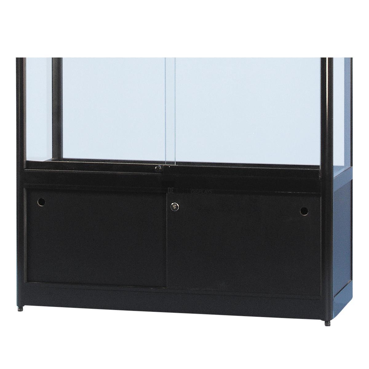 glasvitrine gpc 1000 schwarz unterschrank delight displays. Black Bedroom Furniture Sets. Home Design Ideas