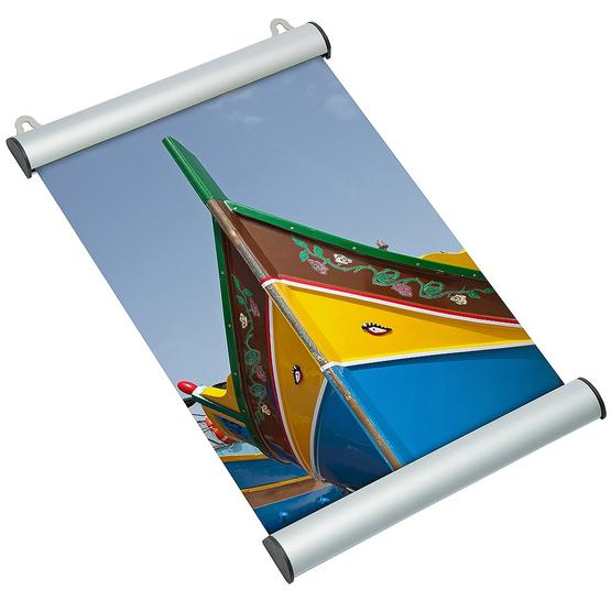 Poster Clamping Rail Snap made of aluminum for DIN sizes