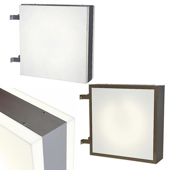 Outdoor light box double-sided up to 600 mm width